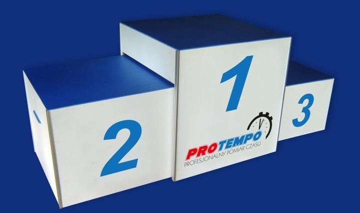 Pomiar czasu - ProTempo - podium dla zwycięzców