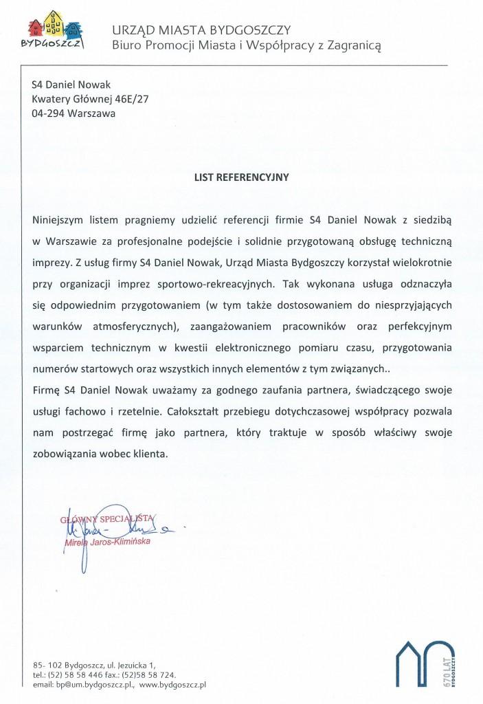 List referencyjny - Bydgoszcz
